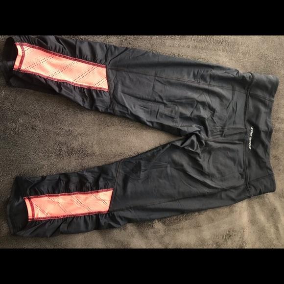 Under Armour Pants - UA Heat Gear capris with mesh accents